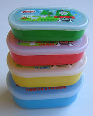 Nesting bento boxes: Thomas the Tank Engine