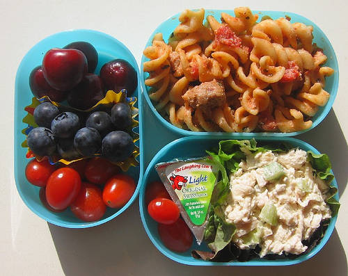 Sausage pasta lunch for toddler お弁当