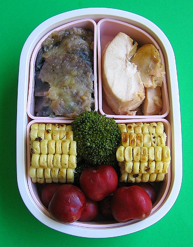 Corn on the cob bento lunches