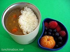 Curry rice bento lunch for preschooler