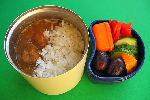 Curry and lamb stew lunches