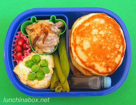 Mini pancake lunch for preschooler