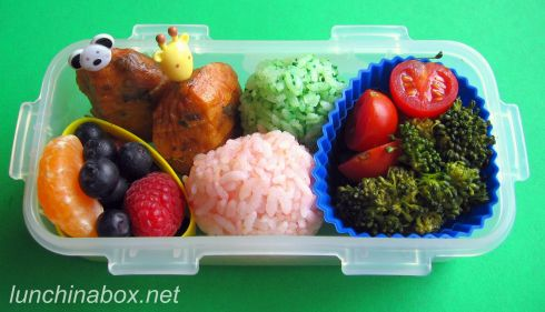 Fish cake lunch for preschooler