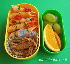 Penne bento lunch for preschooler