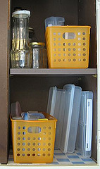 Organized food containers & jars
