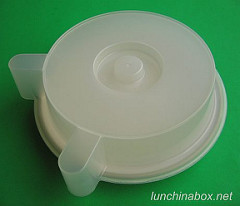 Reusable plate cover for double-decker microwaving