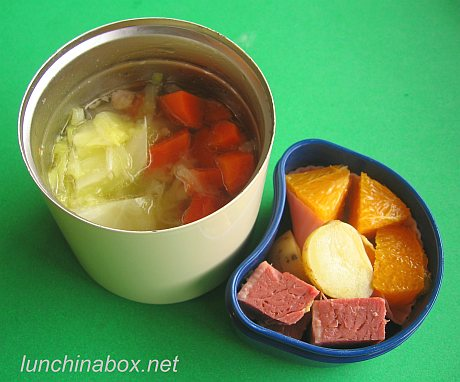 Corned beef bento lunches