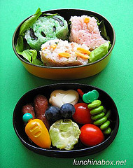 Cute bento lunch for live TV shoot