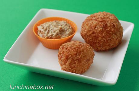 Curried turkey croquette