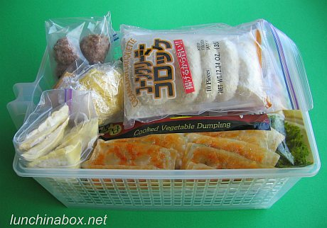 Save time & energy with bento baskets for the freezer