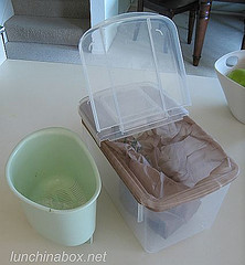 Rice keeper as compost bin