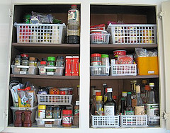 After: Organized spice pantry