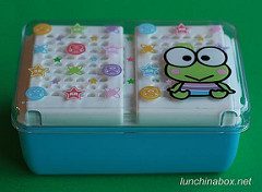 Combo bento box & sandwich case (collapsed)
