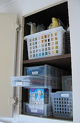After: Pull-out drawer in organized pantry 4