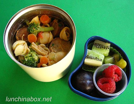 Pasta and pork stew bento lunches