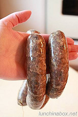 Hank's homemade rooster sausage
