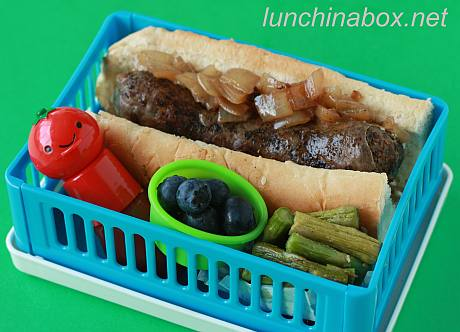 Rooster sausage bento lunch for preschooler