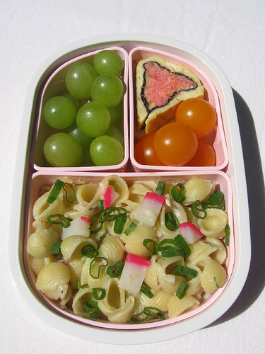 Child's pink & green bento